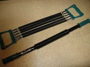 Steel Chest Expander and Power Twister Set Green Handles w/ Black Springs