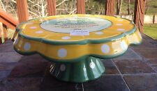 Temp-tations Friendship Flower Cake Stand/ Chip and Dip Serving Tray