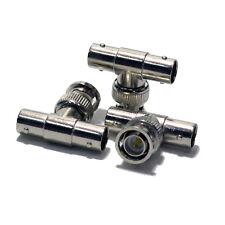 100 pack BNC 1 Male to 2 Female T Type Splitter CCTV
