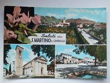 Saluti da SAN MARTINO DI CAMPAGNA vedutine Pordenone vecchia cartolina