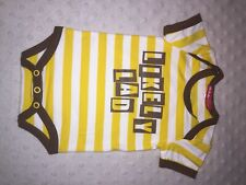 Oh Baby London Boys Vest 'likely Lad' Yellow 0-3m