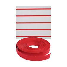 New Retails Red Vinyl Finished Slatwall Insert 130'Length