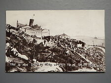 R&L Postcard: Douglas Head Isle of Man, Drunk Wobbly Image, 1914, Dainty Series