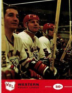 1969-70 Phoenix Roadrunners vs. Portland Buckaroos Program (WHL)  EX