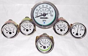 Willys MB gauges Kit- 85 mm Speedometer+Temp+Oil +Fuel+ Volt +amp