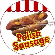 Polish Sausage DECAL (Choose Your Size) Concession Food Truck Circle Sticker