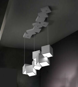 Nordic Geometric Model Chandelier Lighting Living Room Ceiling Long Table Lamp