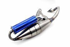 SCOOTER MOPED PERFORMANCE MUFFLER EXHAUST PIPE JOG 50CC EXHAUST MUFFLER BLUE