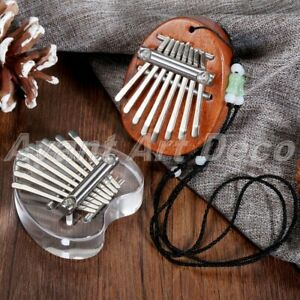 2PCs Mini Kalimba 17 Key Thumb Piano Mbira Sanza Finger Piano Music Instrument