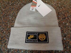 Nike Team Sports Beanie Knit Hat LSU Tigers Gray One Size NWT New CI4229-063
