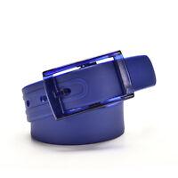 Silicone Ceinture Caoutchouc Boucle Plastique Uni Faux Cuir Style Ajustable FE