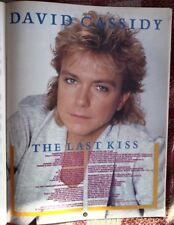 DAVID CASSIDY Last Kiss lyrics magazine PHOTO/Poster/clipping 11x8 inches