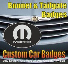 Chrysler Crossfire Mopar Logo Grille and Tailgate Badges (black/chrome)