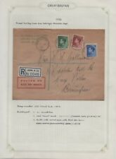 Keviii 1936 Rare - First Date Cover Collection Sg457, 459/460 01/09/1936