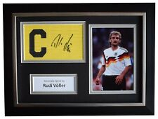 Rudi Voller Signed Framed Captains Armband photo A4 display Germany COA