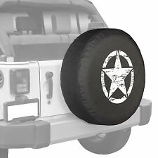 "35"" Oscar Mike Star - Spare Tire Cover - Jeep Wrangler Freedom Edition - White"
