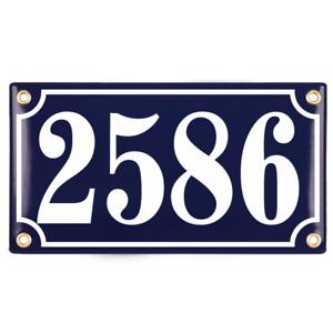 Porcelain address plaque 4.8″x8.7″  handcrafted enamel house number sign