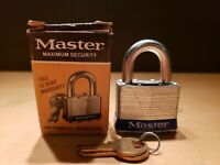 Vintage Master Lock No. 1 w/ Keys Made in U.S.A. Milwaukee, Wisconsin NOS