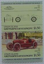 1922 FIAT GRAND PRIX (Italie) Timbres Voiture (les dirigeants du monde / auto 100)