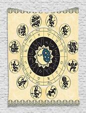 60x80 Large Zodiac Calendar Sun Moon Turkish Tapestry Star Signs Constellations