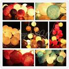 20 Cotton Ball String Light Wedding Christmas Fairy Party Patio Decor Lamp Bulb
