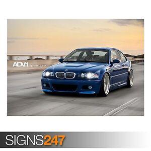 ADV.1 BLUE BMW M3 E46 (AA139) CAR POSTER - Photo Poster Print Art A0 A1 A2 A3 A4