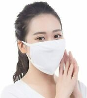 5 Stk Damen Herren 3-lagig Baumwolle Masken Gesundheit Staubschutz Mund Waschbar