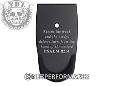 for Smith Wesson SHIELD 9mm 40 Grip Extension Mag Plate BK Bible Psalm 82:4