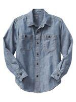 GAP Kids Blue Chambray Denim NEW Boys Sz 4-5, 8, 10 Pocket Dress Shirt