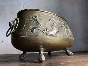 """Large Antique Jardiniere / Wine Cooler by """"E. HOUBION of DINANT"""" Early 20thC"""