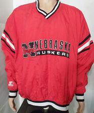 Nebraska Cornhuskers Starter Spring Jacket (2XL) Coat Vtg Pullover XXL Football