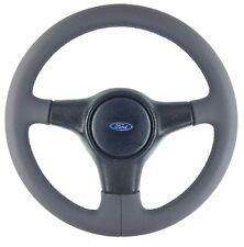 Genuine Ford Fiesta RS Turbo MK3 retrimmed leather 3 spoke steering wheel.    5E