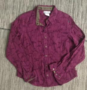 Columbia River Resort Womens Medium Snap Button Up Shirt Cotton/Rayon