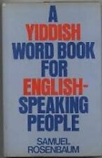 Yiddish Word Book for English Speaking People