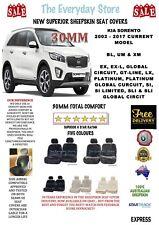 Kia Sorrento 2002 -2018 Premium Sheepskin Seat Covers Pair Airbag Safe 30MM