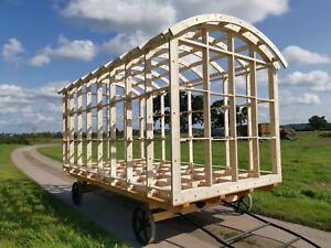 Shepherds Hut Framework  6.0m (L)  x 2.59m (W) x 2.668m (H) including End Walls