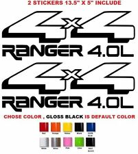 (#233) 2 X 13.5'' FORD RANGER 4x4 1998-2008 STICKERS DECALS EMBLEM