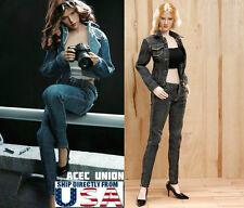 "1/6 Women Jacket Jeans Set B For 12"" Phicen Hot Toys Female Figure U.S.A. SELLER"