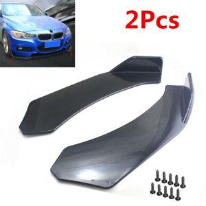 2Pcs ABS Car SUV Front Bumper Splitter Lip Body Protector Diffuser Front Shovels