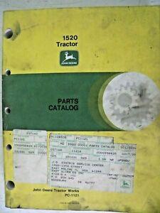 Parts Catalog PC-1121 Original John Deere for 1520 Tractor