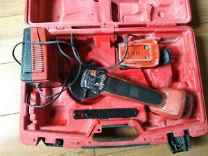 Hilti AG 125-A22 Battery angle grinder / batteries / charger / case