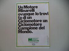 advertising Pubblicità 1982 MOTORI MINARELLI