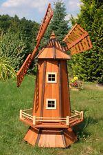 Windmühle mit Solar, Garten, Holz Windmühlen, imprägniert, Kugelgelagert, 1,3 m