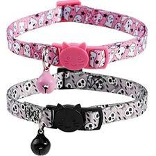 New listing BoomBone 2 Pack Skull Cat Collar, Breakaway Kitten Collars With Bell For Pet