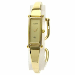 GUCCI Square face Watches 1500L Gold Plated/Gold Plated Ladies SALE2