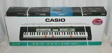 Casio LK-135 Light Up 61 Full Size Key Portable Keyboard Black With Stand