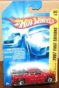Hot Wheels 2007 First Edition  #20 CHEVY SILVERADO Red