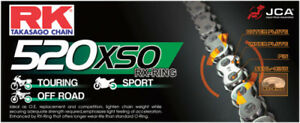 RK 520 Pitch Motorcycle ATV Natural O-Ring Chain XSO X 108 LINKS 520 520XSO108