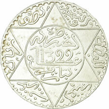 [#517075] Monnaie, Maroc, 'Abd al-Aziz, 1/2 Rial, 5 Dirhams, 1904, TTB, Argent