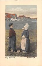 JONG VOLENDAM DUTCH NETHERLANDS CHILDREN HAND COLORED POSTCARD